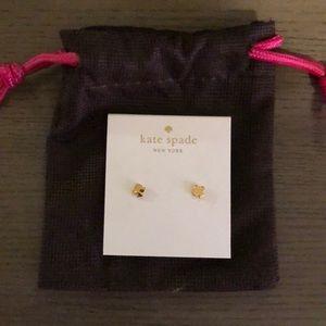 Kate Spade spade gold earrings